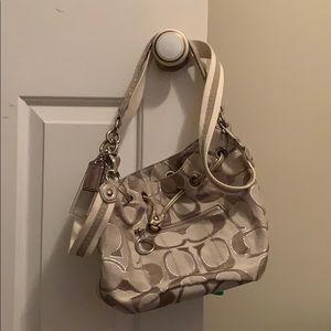 Coach purse champagne
